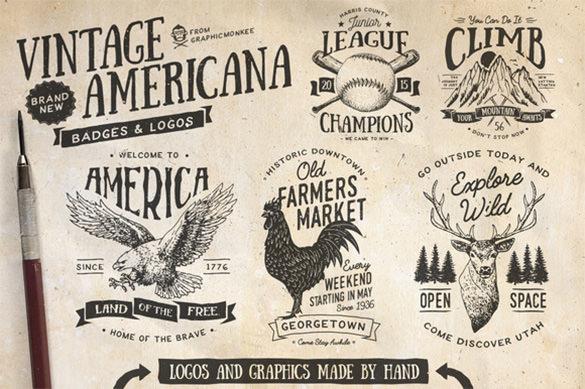 vintage eagle logo