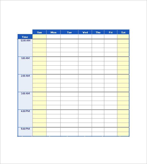 Excel Agenda Template