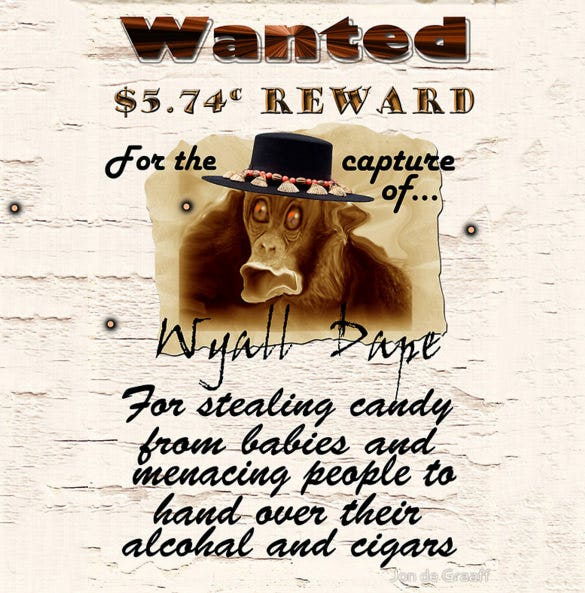 funny monkey wanted poster example download