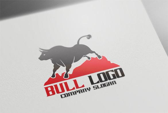 standing bull logo