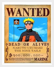 One-Piece-Wanted-Naruto-Vintage-Poster-Format