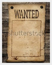 Wanted Dead Or Live Blank Poster Format  Free Printable Wanted Poster