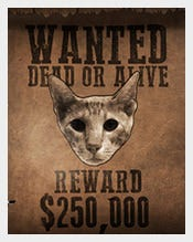 89+ Wanted Poster Templates – Free Printable, Sample, Example ...