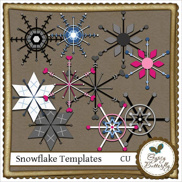 printable commercial use snowflake template
