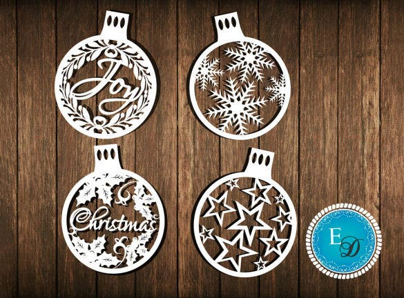 christmas baubles paper cutting snowflake template