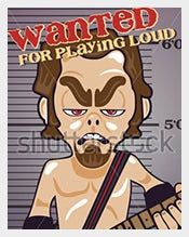 Funny-Guitar-Player-Wanted-Poster-Format