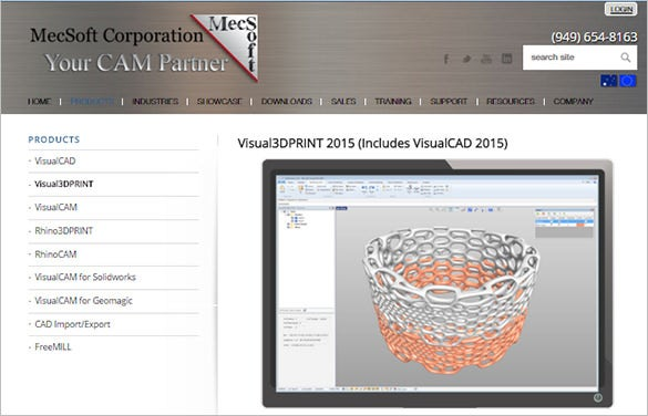 visual3d print 3d printing data preparation software