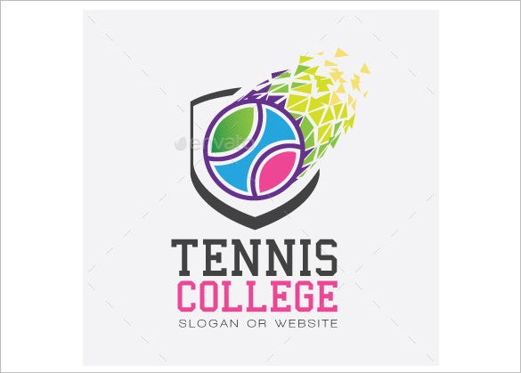 tennis college logo