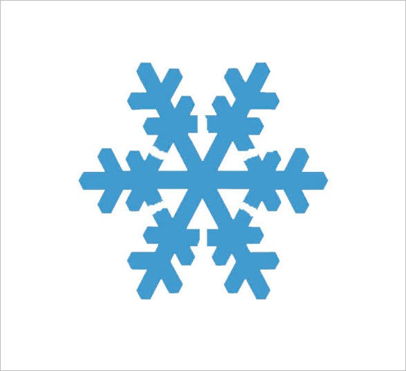 printable snowflake stencil different sizes available