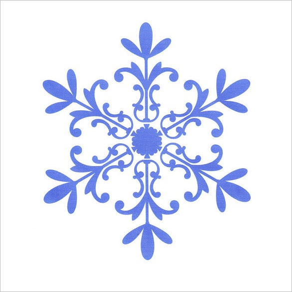 13 Snowflake Stencil Templates Free Printable Sample