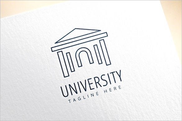 simple college logo