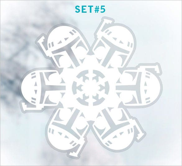 star wars snowflake template window cling