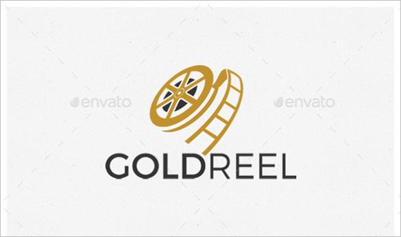 gold reel movie logo