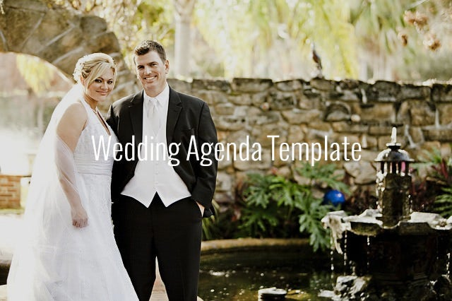 wedding agenda templates