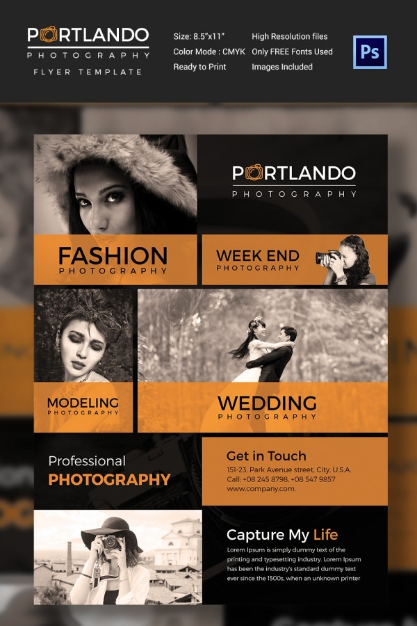 Fashion Photography PSD Flyer