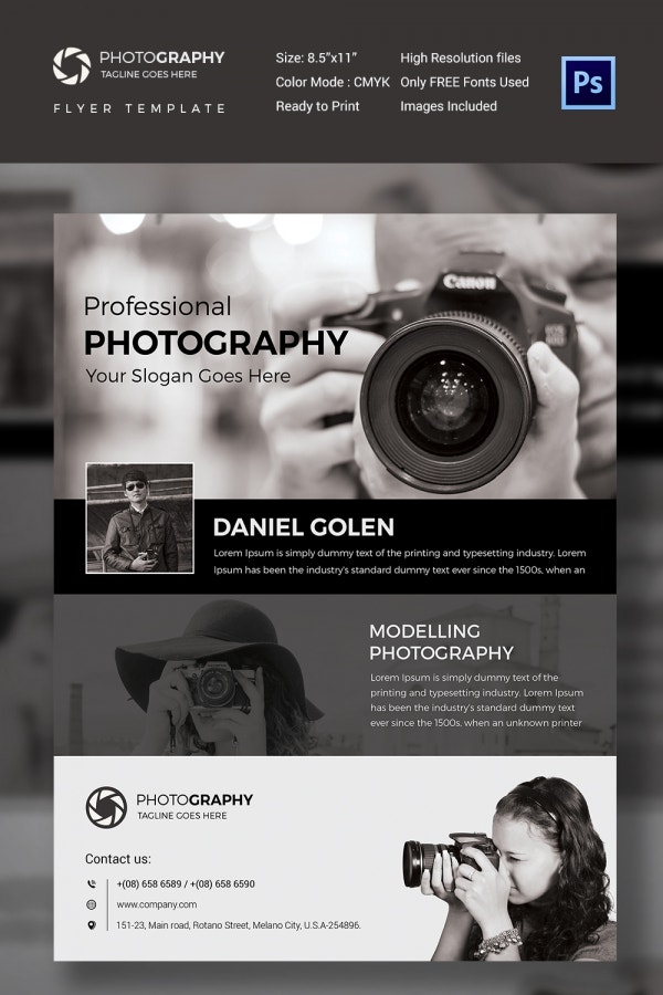 Premium Photography Flyer Design Template