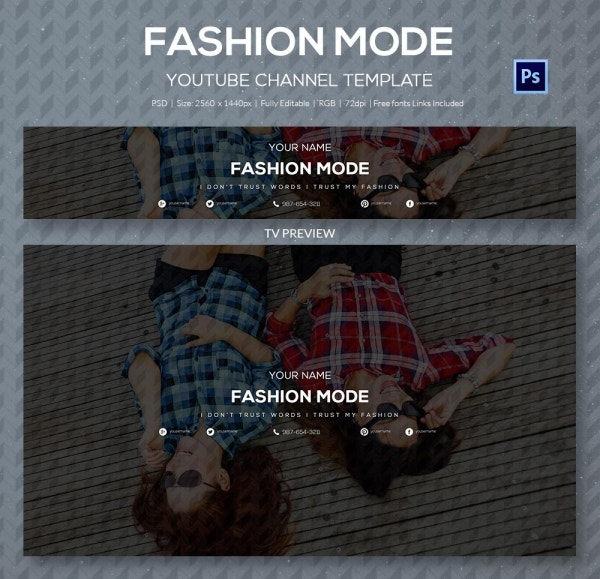 channel art template fashion1