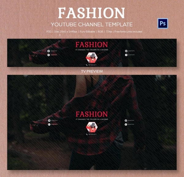 channel art template fashion2