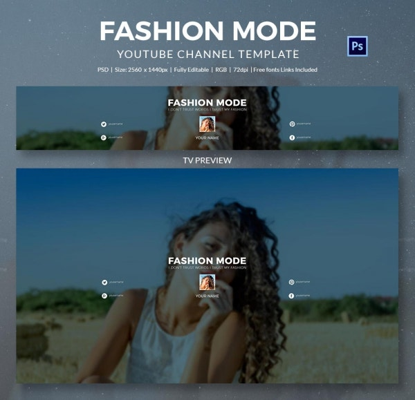 channel art template fashion4