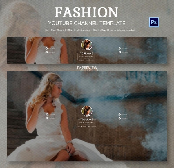 channel art template fashion3