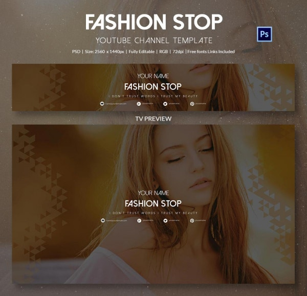 channel art template fashion5