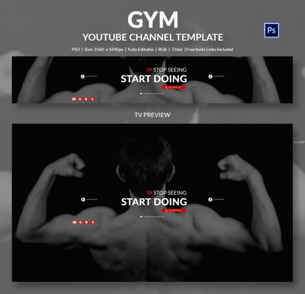youtube channel banner template