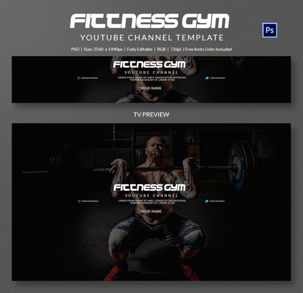 channel art template gym5