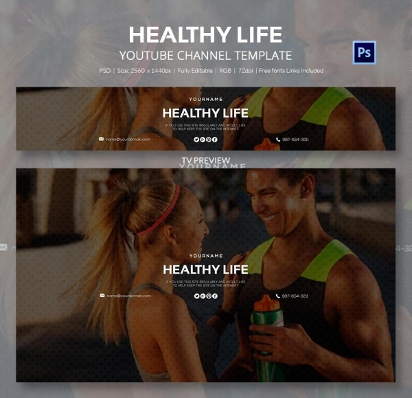 channel art template lifestyle3