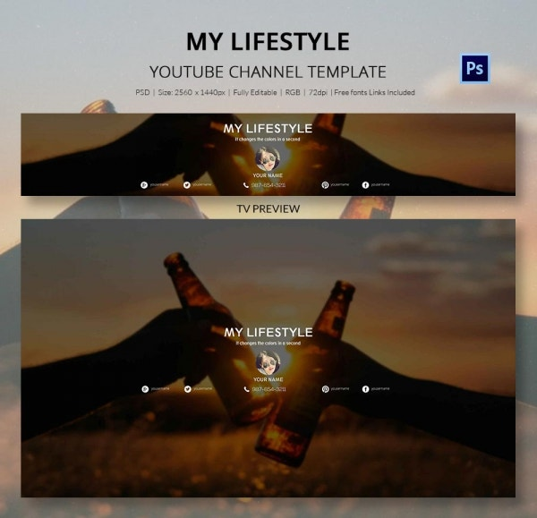 channel art template lifestyle5