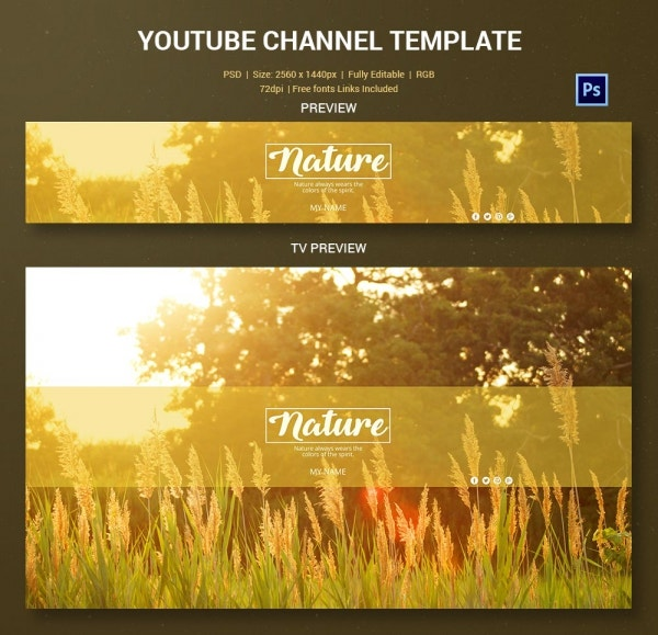 channel art template nature