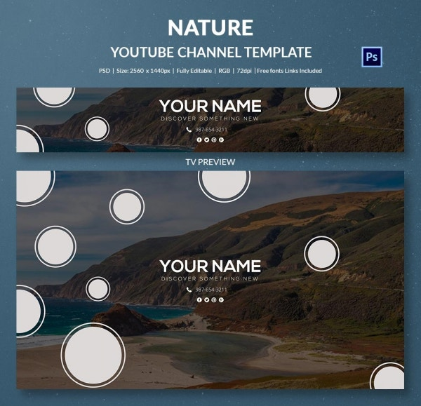 channel art template nature3