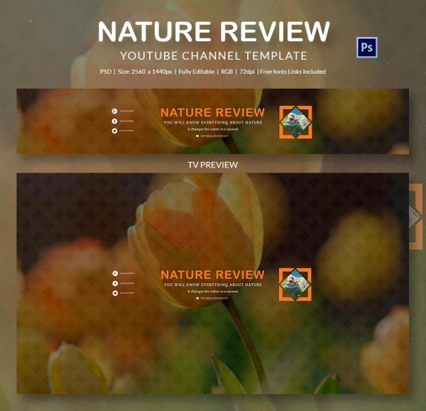 channel art template nature4