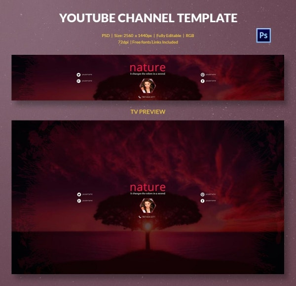 channel art template nature2