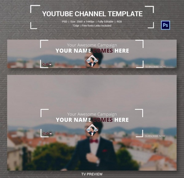 channel art template photoshop 4