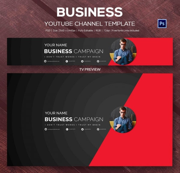 youtube banner template photoshop