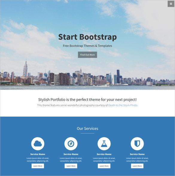 Stylish Portfolio Bootstrap Template