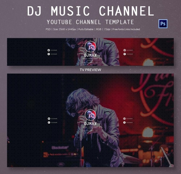 DJ Music Channel YouTube Banner