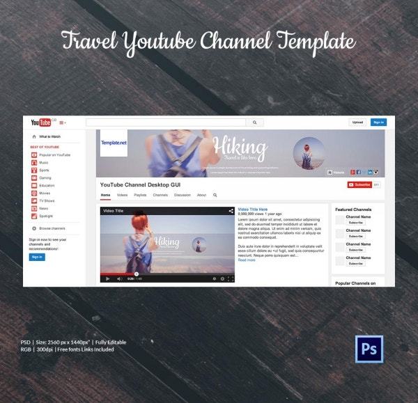 Awesome Template Youtube Banner Ensign Resume Ideas Namanasacom - Youtube ad template