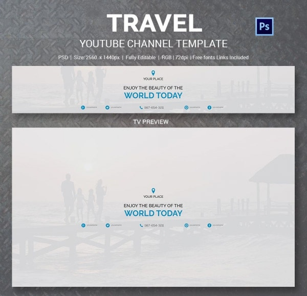 World Travel YouTube Channel Template
