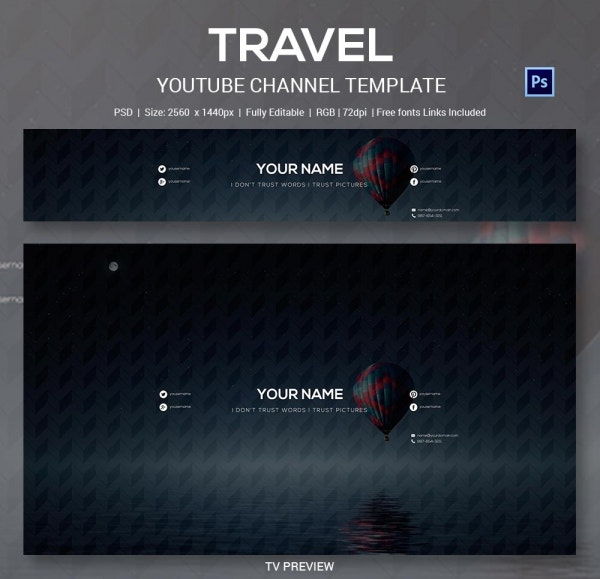Air Travel YouTube Channel Template
