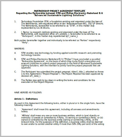 Doc658534 Partnership Agreement Between Two Individuals 5 – Partnership Agreement Between Two Individuals