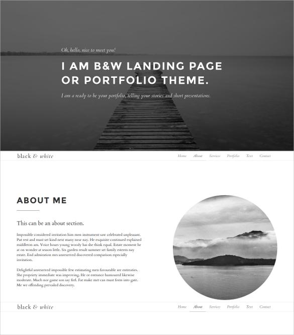 minimalist portfolio bootstrap template