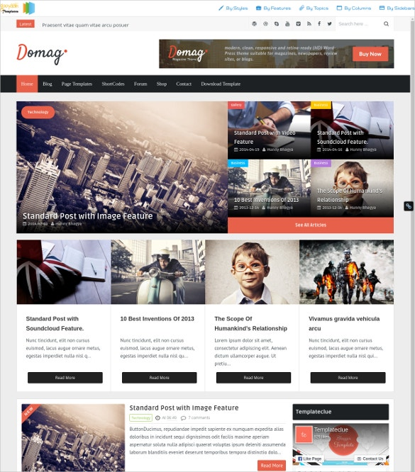 Business Portfolio Blogger Template