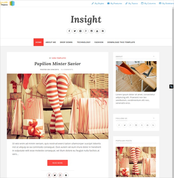 Fashion Insighter Blogger Template