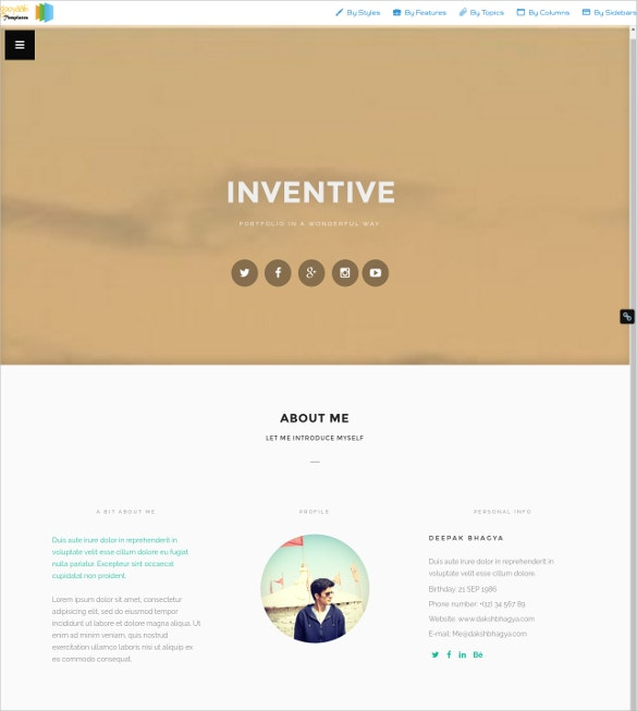 Creative Portfolio Blogger Template
