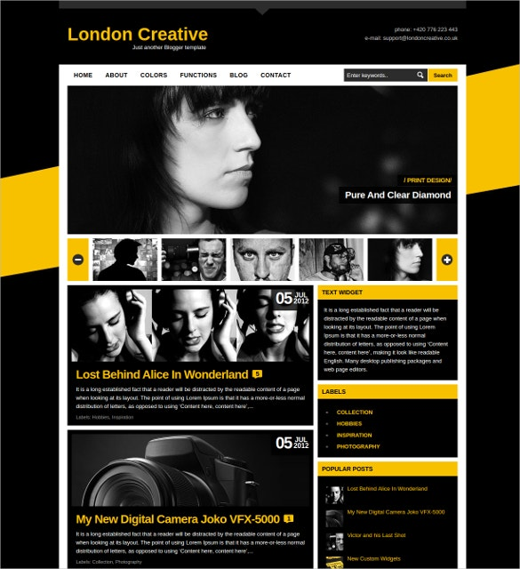 Creative Photography Portfolio Blogger Template