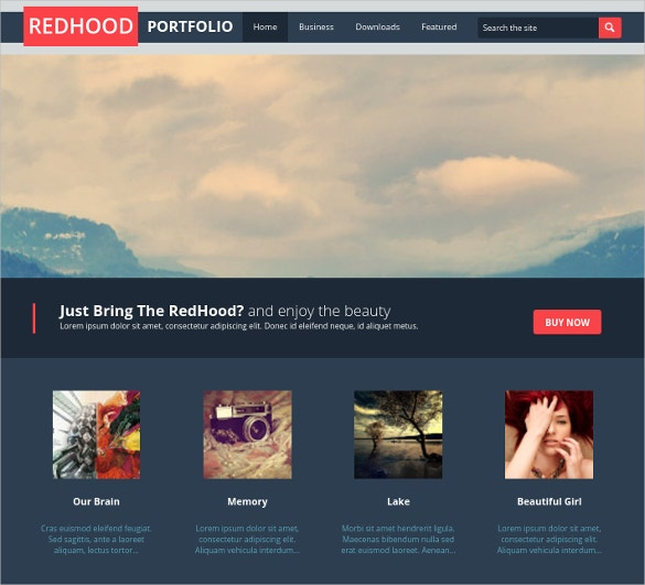 Amesome Photography Portfolio Blogger Template