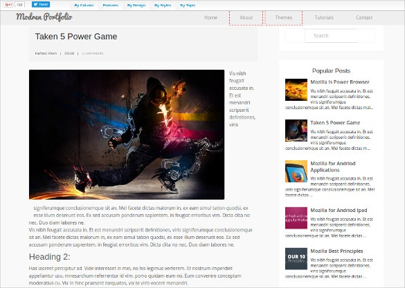 Game Portfolio Blogger Template