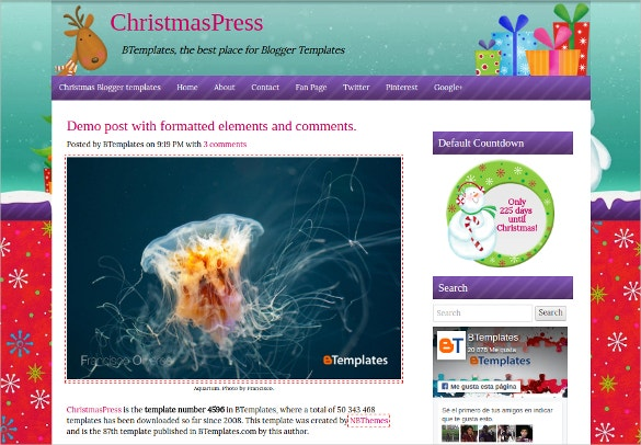 ChristmasPress Blogger Template