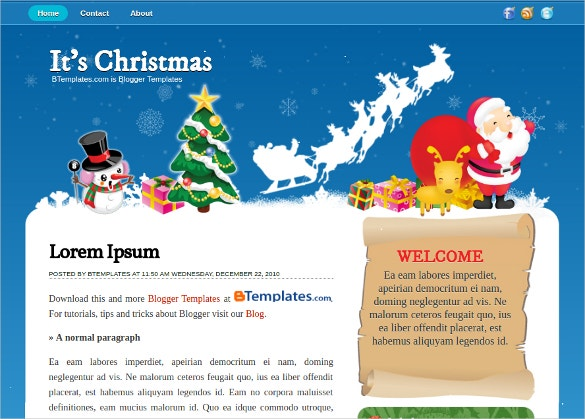 Christmas Free Blogger Template